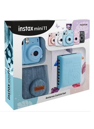 Fujifilm Instax mini 11 Jean Çantalı Mavi Kit Mavi